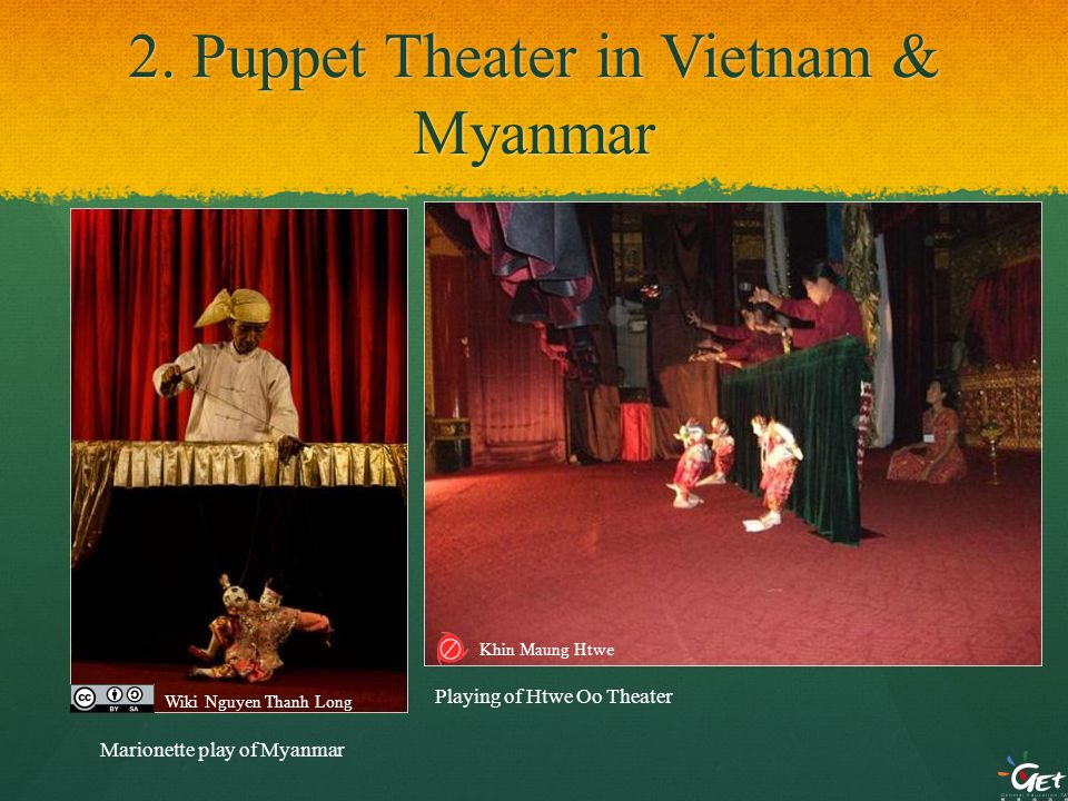 2. Puppet Theater in Vietnam & Myanmar Playing of Htwe Oo Theater Marionette play of Myanmar Wiki Nguyen Thanh Long Khin Maung Htwe