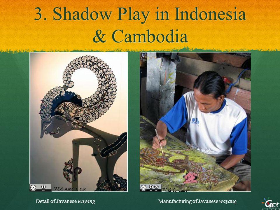 3. Shadow Play in Indonesia & Cambodia Detail of Javanese wayangManufacturing of Javanese wayang Wiki Amelia guo Wiki flydime