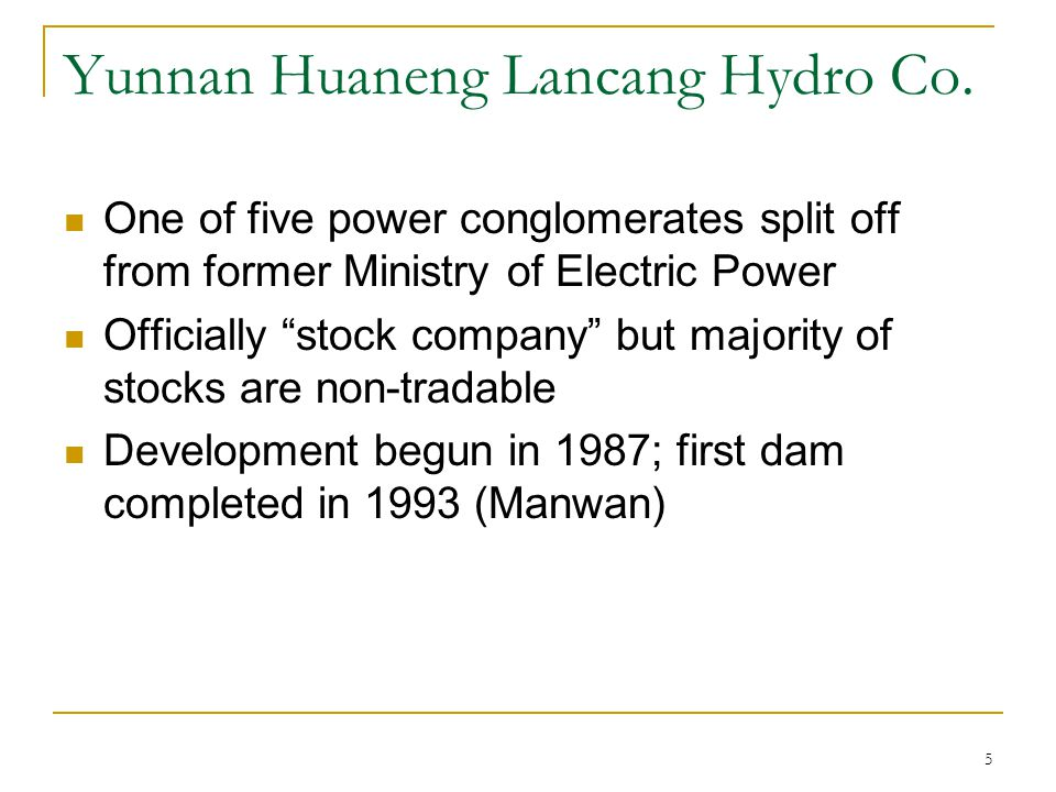 Why the push southward.China's power shortages, future surplus.