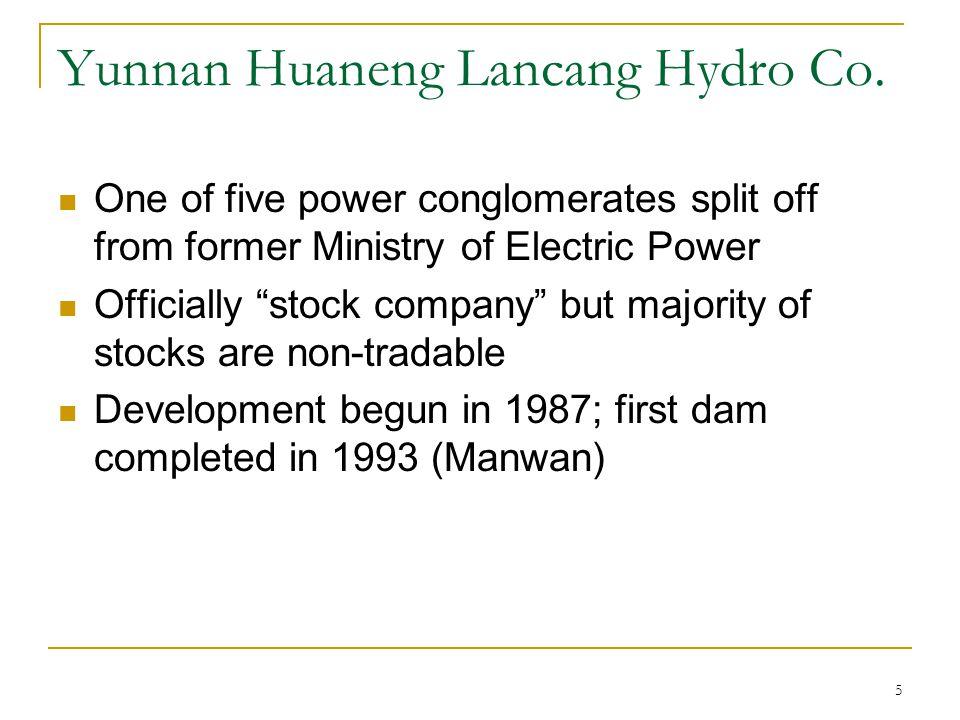 Yunnan Huaneng Lancang Hydro Co.