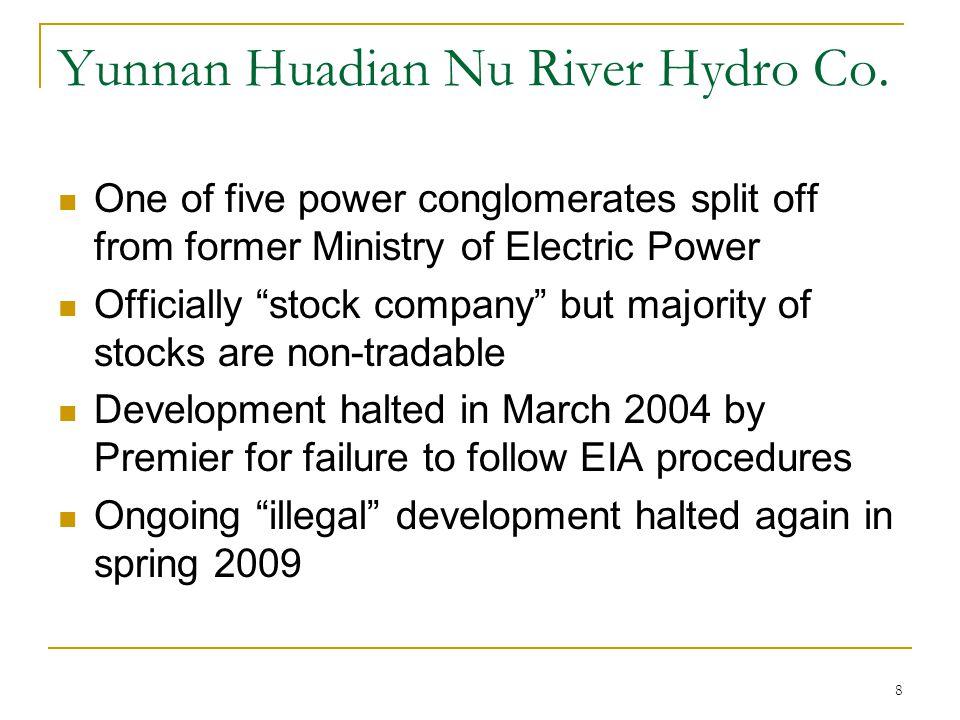 Yunnan Huadian Nu River Hydro Co.
