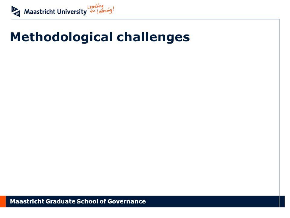 Maastricht Graduate School of Governance Methodological challenges