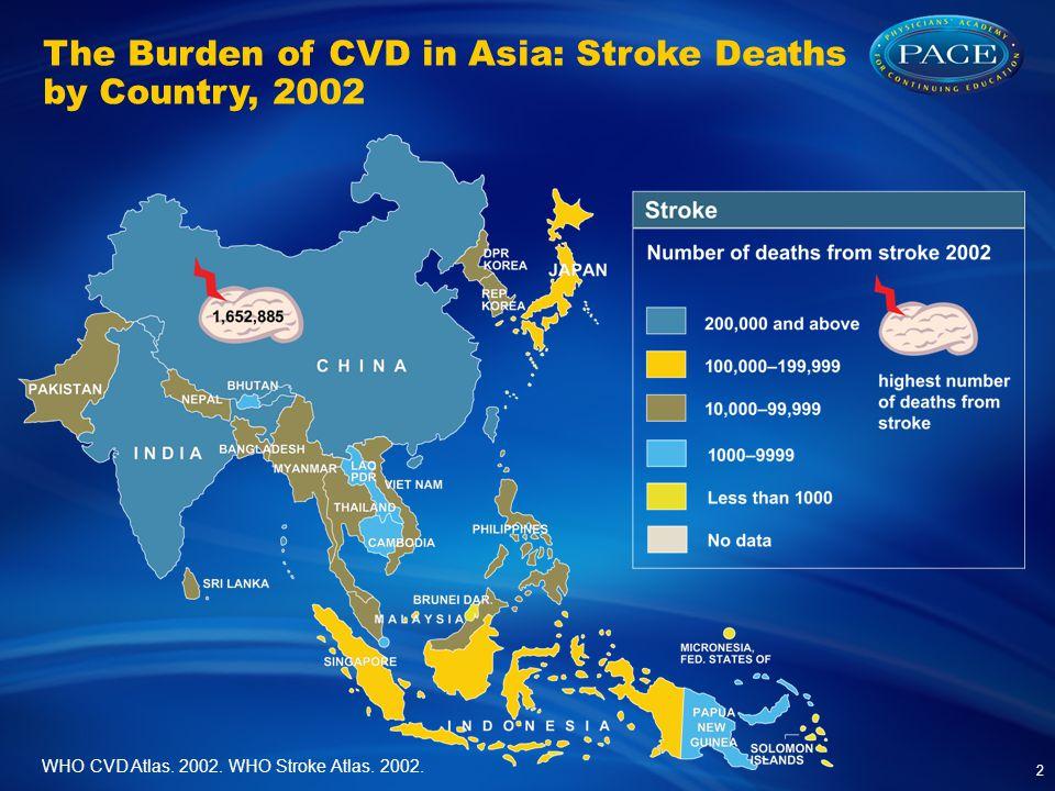 WHO CVD Atlas.2002. WHO Stroke Atlas. 2002.