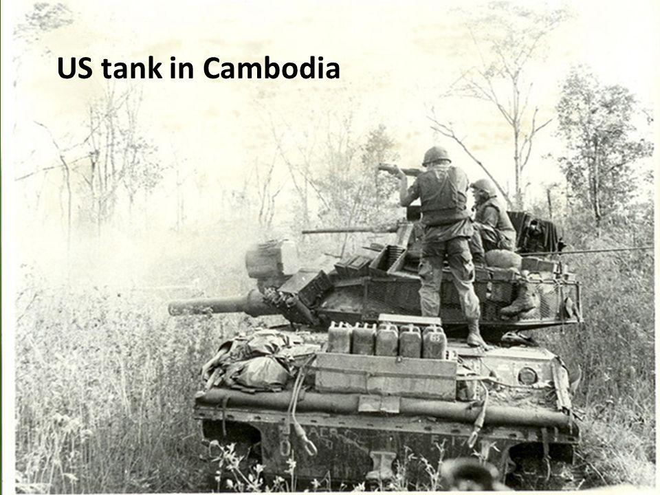 US tank in Cambodia