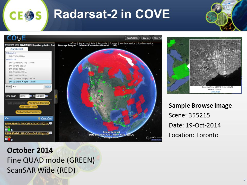 8 ALOS-1 in COVE ALOS-1 recently added to COVE.Thanks to JAXA.