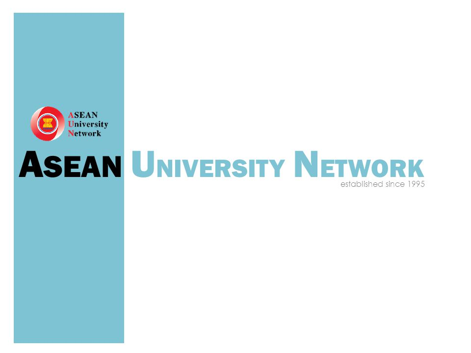 A SEAN U NIVERSITY N ETWORK established since 1995