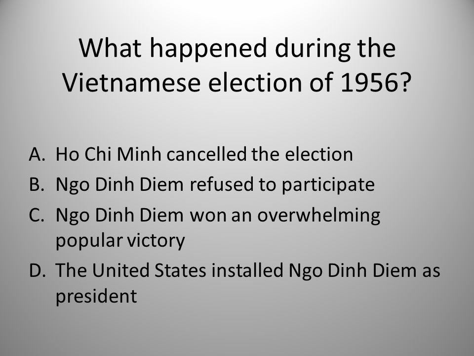 What happened during the Vietnamese election of 1956.