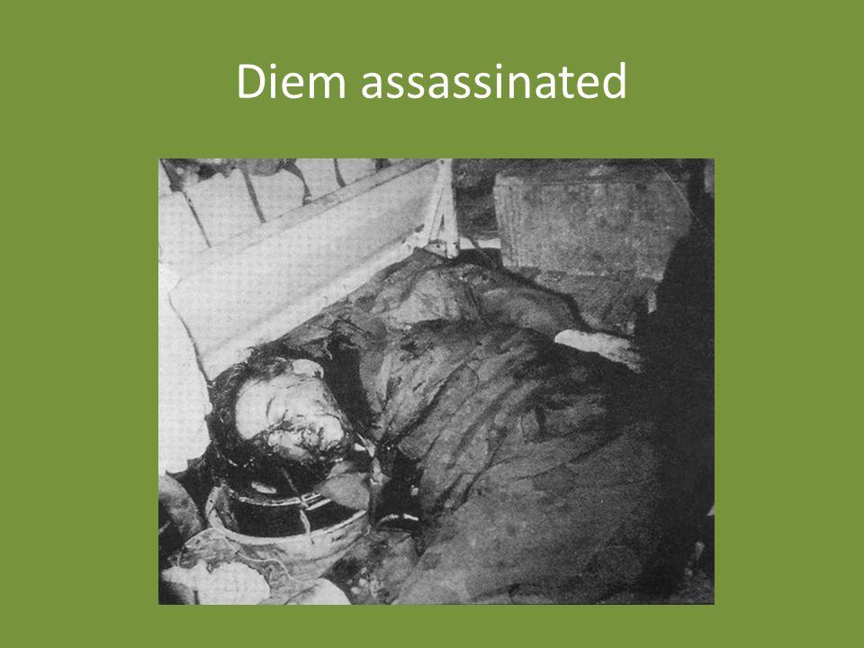 Diem assassinated