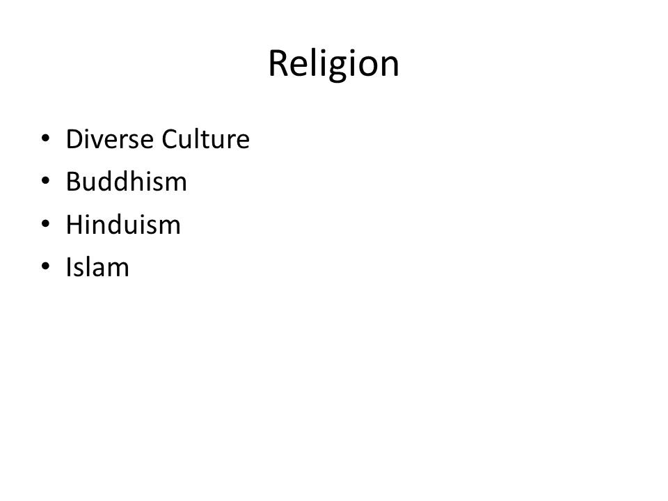 Religion Diverse Culture Buddhism Hinduism Islam