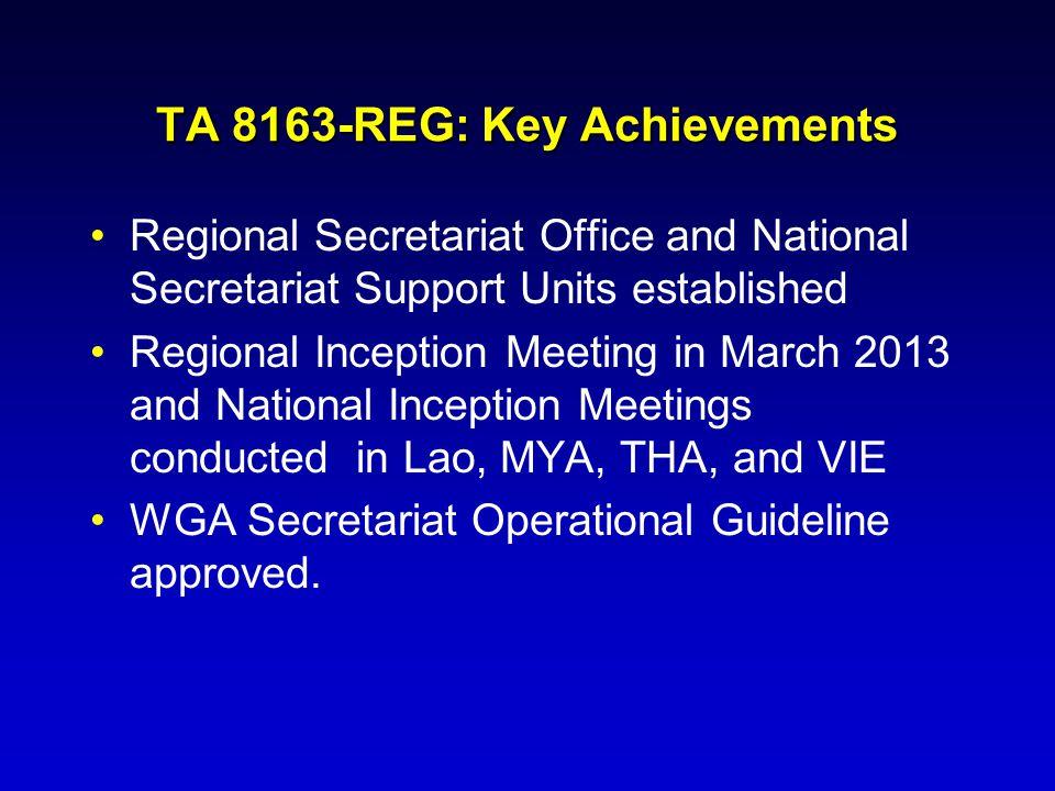 Regional Secretariat Office and National Secretariat Support Units established Regional Inception Meeting in March 2013 and National Inception Meeting