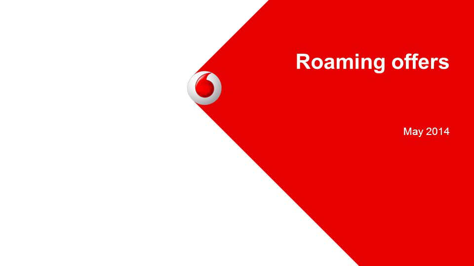 May 2014 Roaming offers