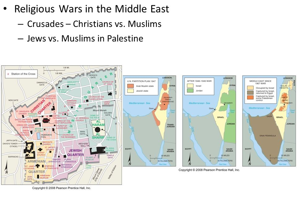 Religious Wars in the Middle East – Crusades – Christians vs.