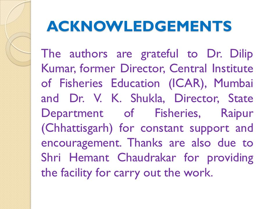 ACKNOWLEDGEMENTS The authors are grateful to Dr.