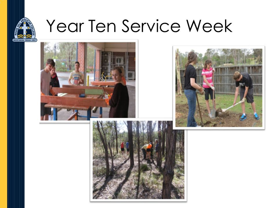 Year Ten Service Week