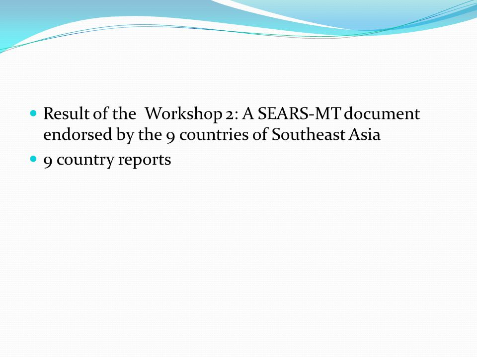 Country Reports Each country report was written to answer the following questions: 1.