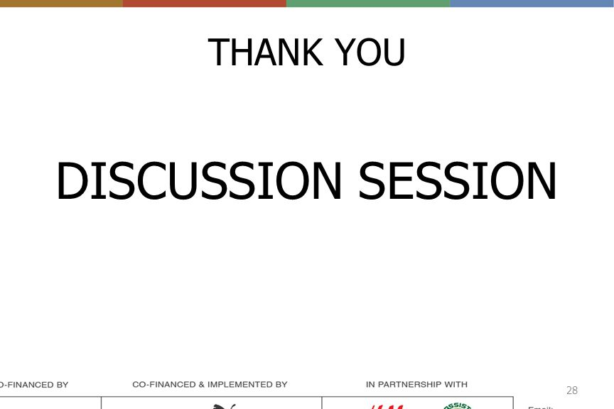 THANK YOU DISCUSSION SESSION 28