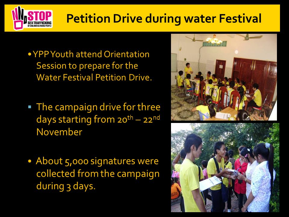 YPP Youth attend Orientation Session to prepare for the Water Festival Petition Drive.