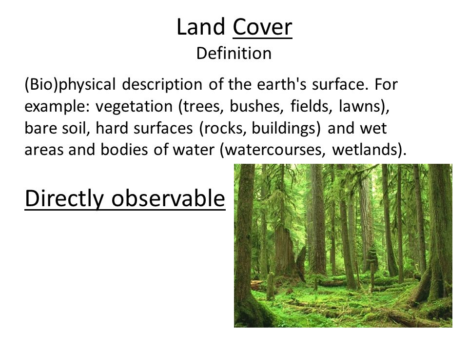 Land Use Definition The socio-economic description (functional dimension) of areas: areas used for residential, industrial or commercial purposes, for farming or forestry, for recreational or conservation purposes, etc.
