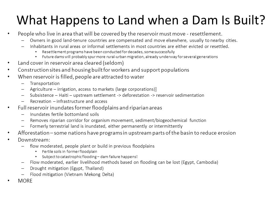 What Happens to Land when a Dam Is Built.