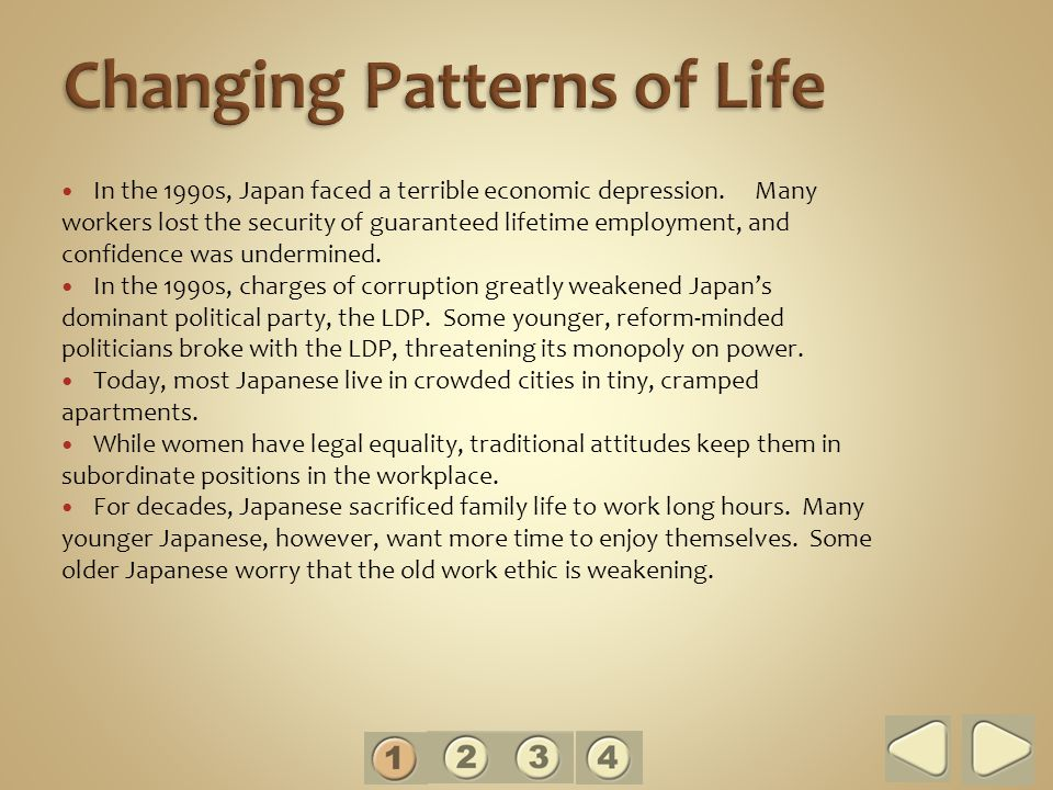 In the 1990s, Japan faced a terrible economic depression.