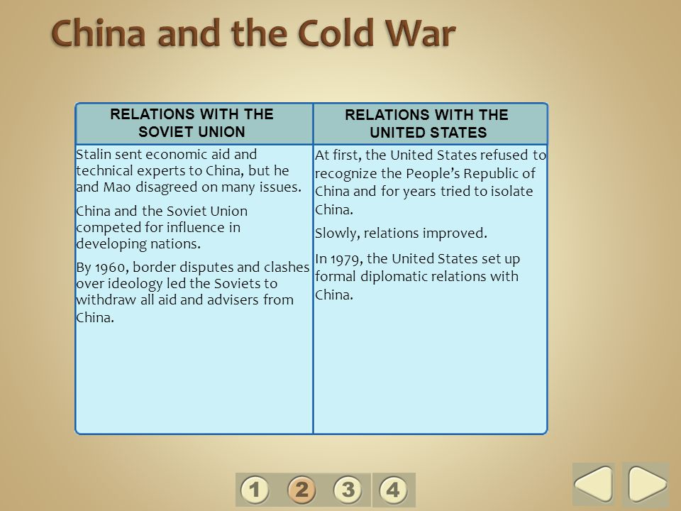 Stalin sent economic aid and technical experts to China, but he and Mao disagreed on many issues.