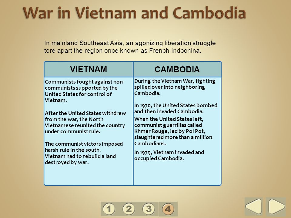 Communists fought against non- communists supported by the United States for control of Vietnam.