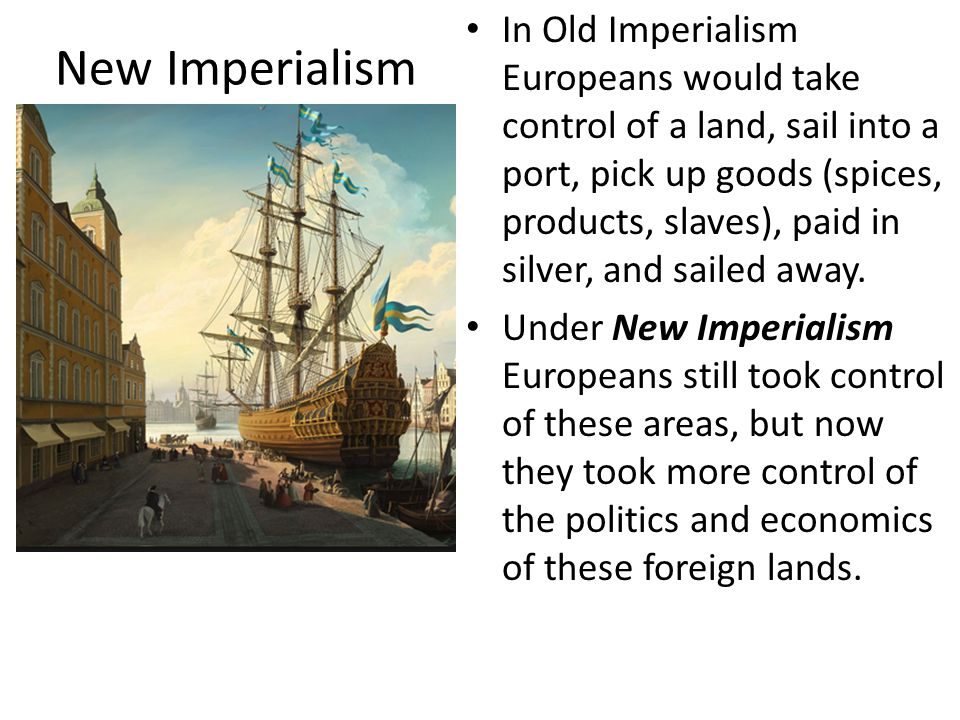 Political & Socio-Economic Factors Politically Europeans engaged in Imperialism as a way to control key areas (and deprive their competition of it) Socio-Economically European nations needed imperialism.