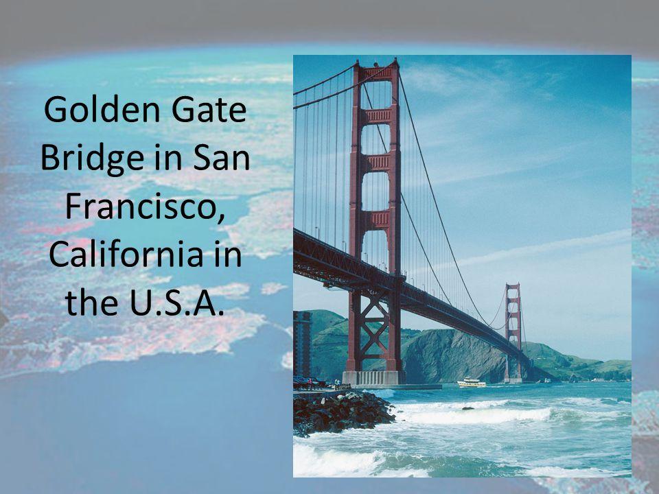 Golden Gate Bridge in San Francisco, California in the U.S.A.