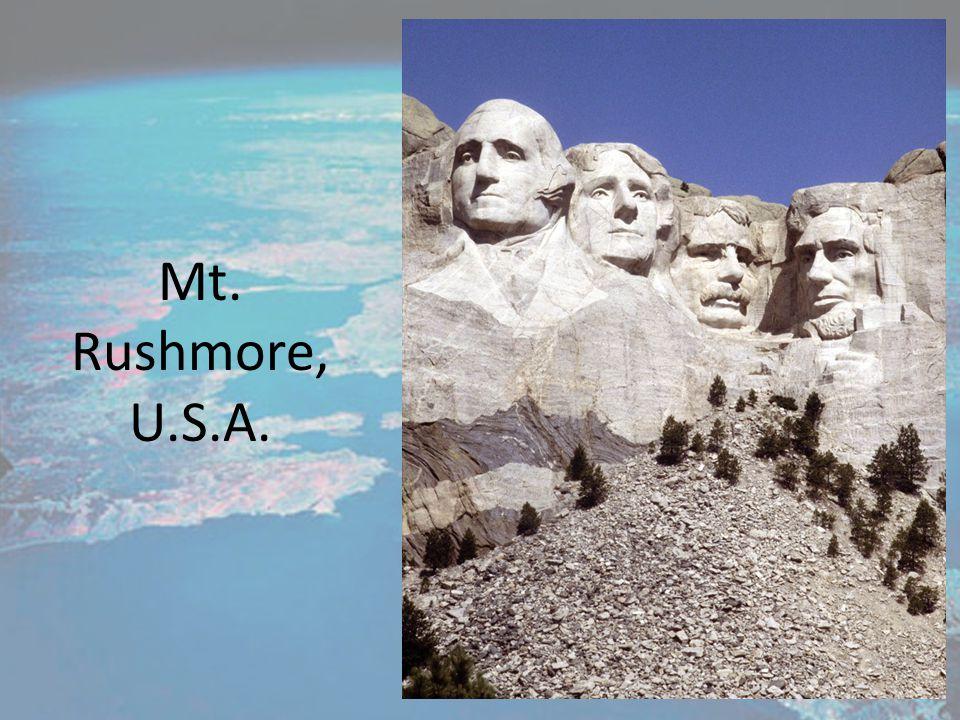 Mt. Rushmore, U.S.A.