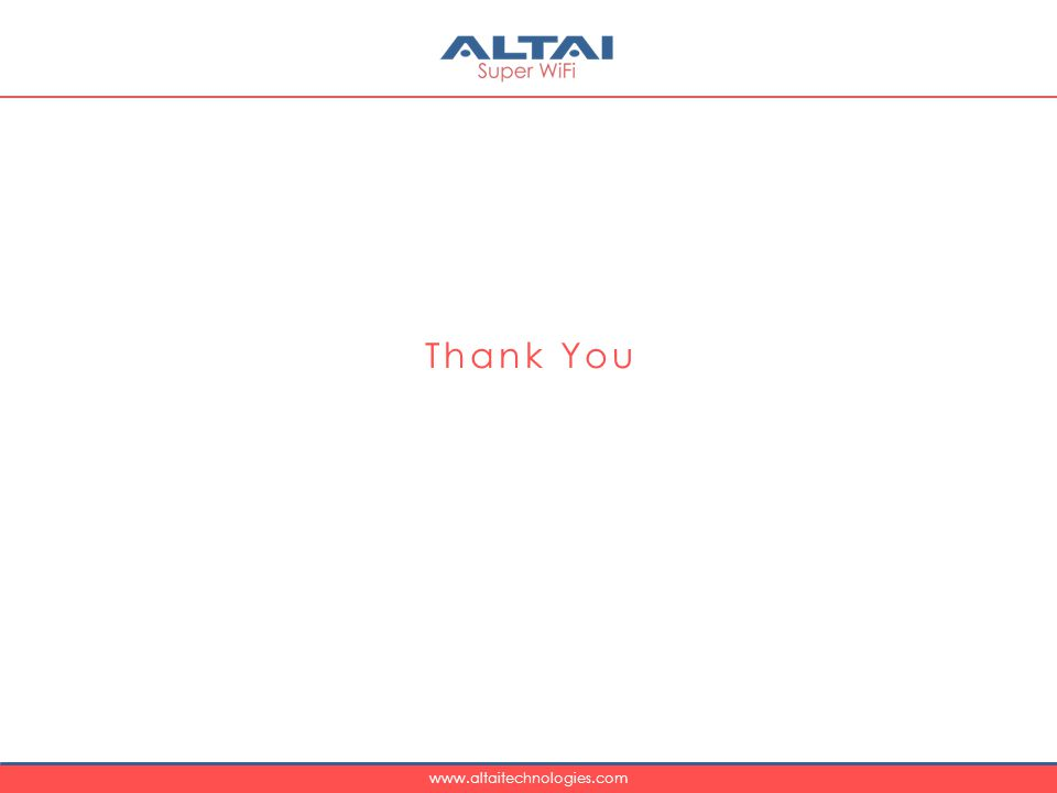 www.altaitechnologies.com Thank You