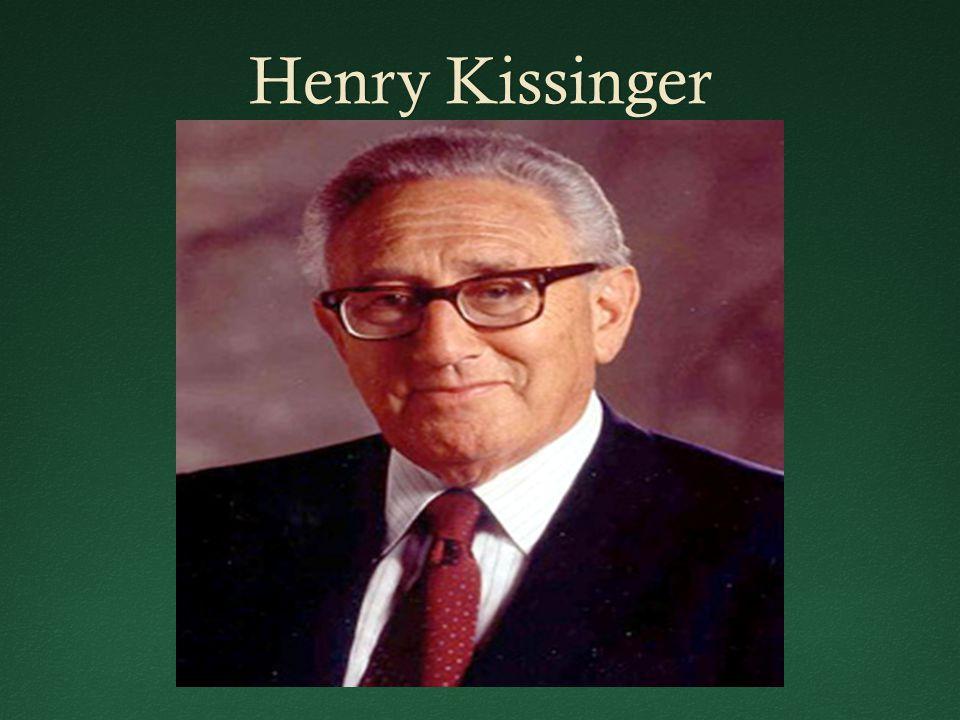 Henry KissingerHenry Kissinger