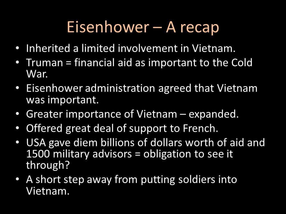 What problems did Eisenhower leave behind for Kennedy.