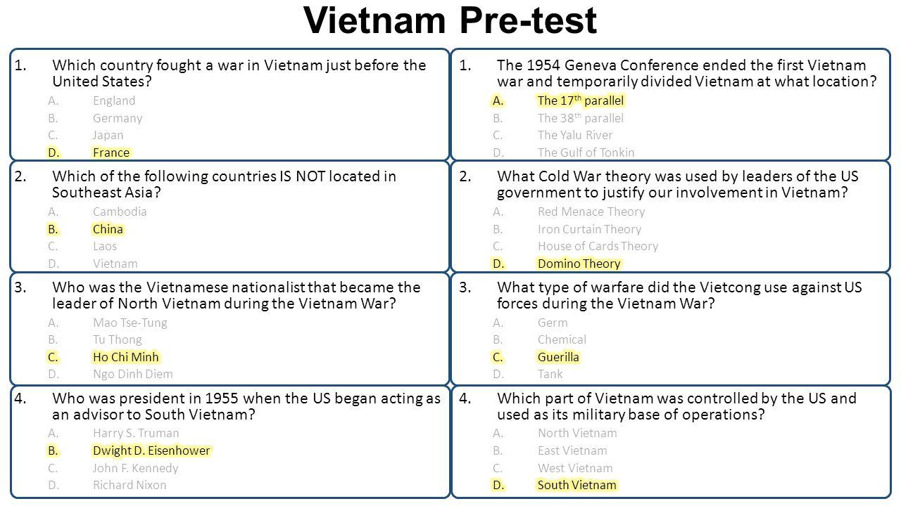 Vietnam Pre-test