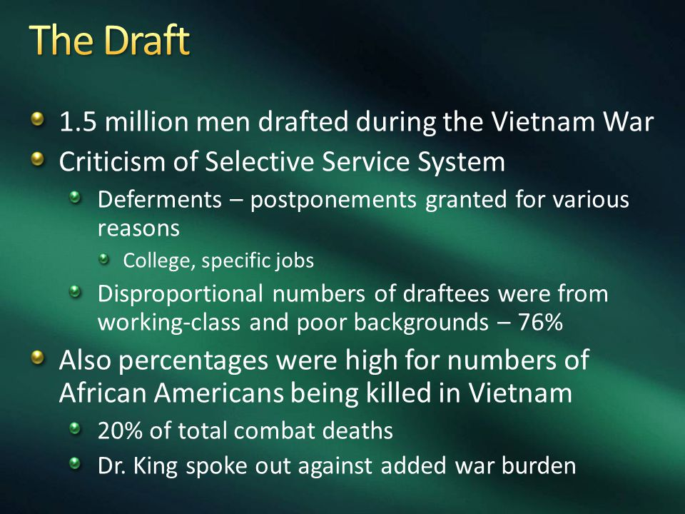 2.5 million served in Vietnam Returned home to mixed reactions Few parades Also returned w/ physical & psychological ailments Revealed how badly POWs had been treated Hanoi Hilton Search for MIAs continues – 1994 end of trade embargo supposed to help w/ recovery 1982 – Vietnam War Memorial opened in Washington DC Born on the Fourth of July