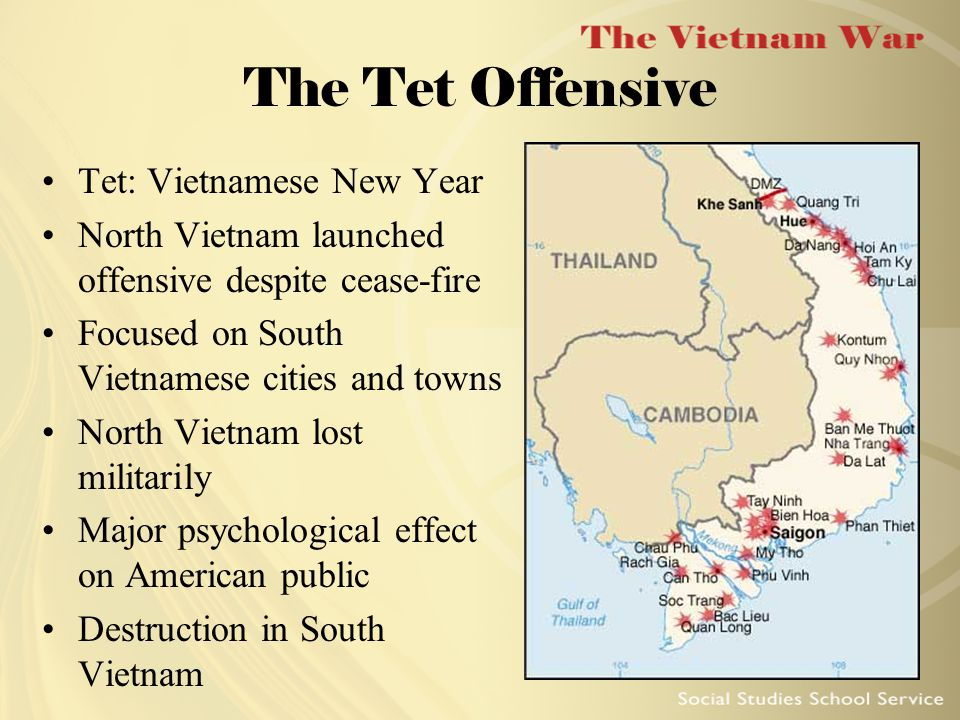 Tet: The American Public Reacts Reduced confidence that the United States was winning the war Johnson considered adding 200,000 troops New York Times leaked article about troop increase; Johnson failed to respond Johnson reduced troop increase and bombing of North Vietnam U.S.