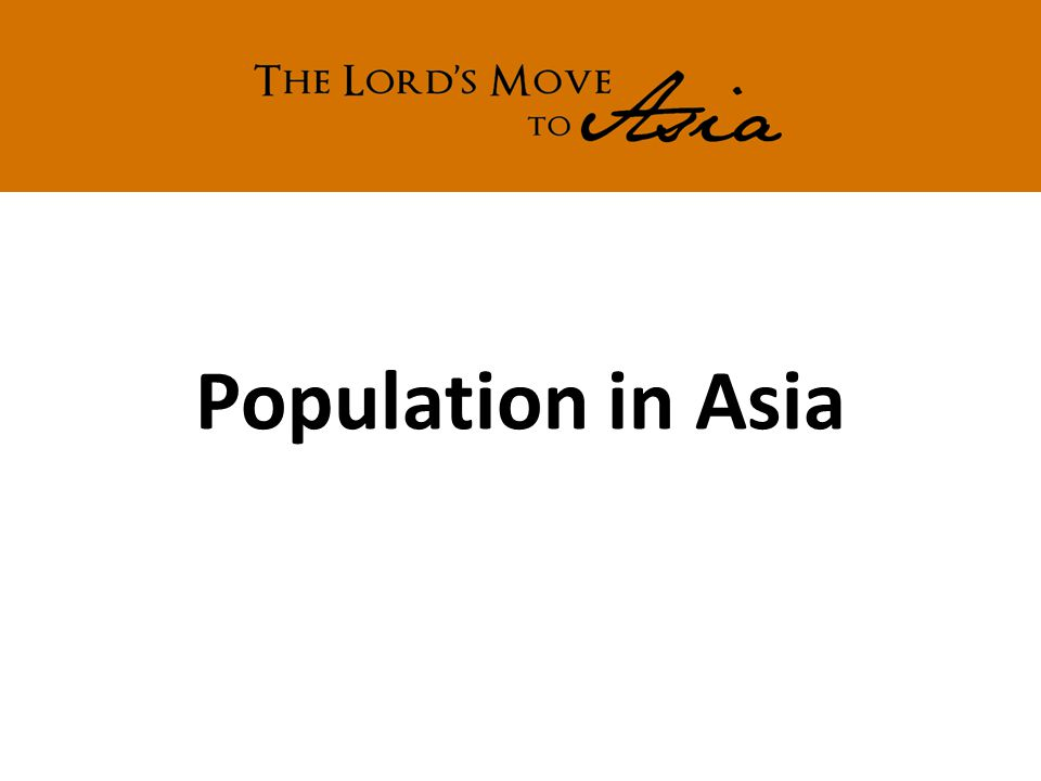 Population in Asia