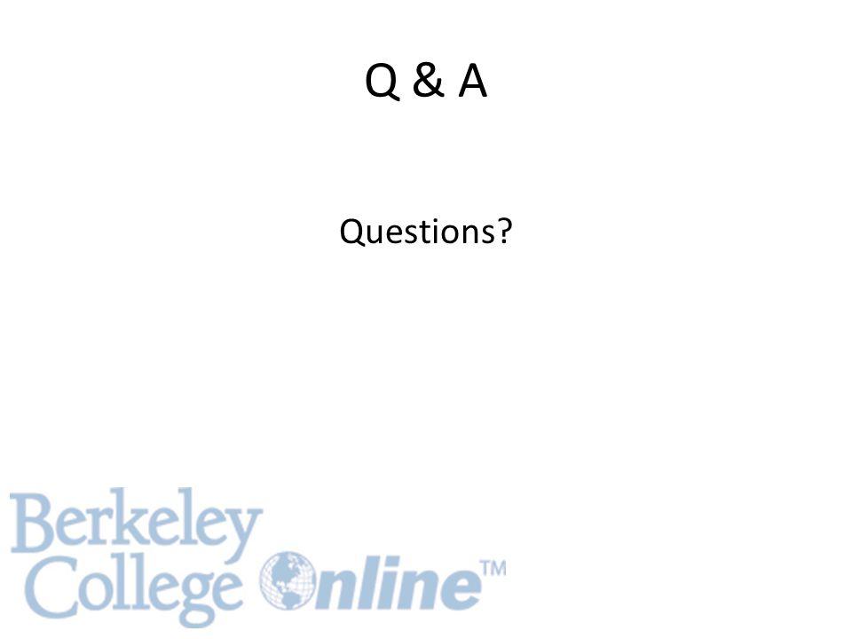 Q & A Questions