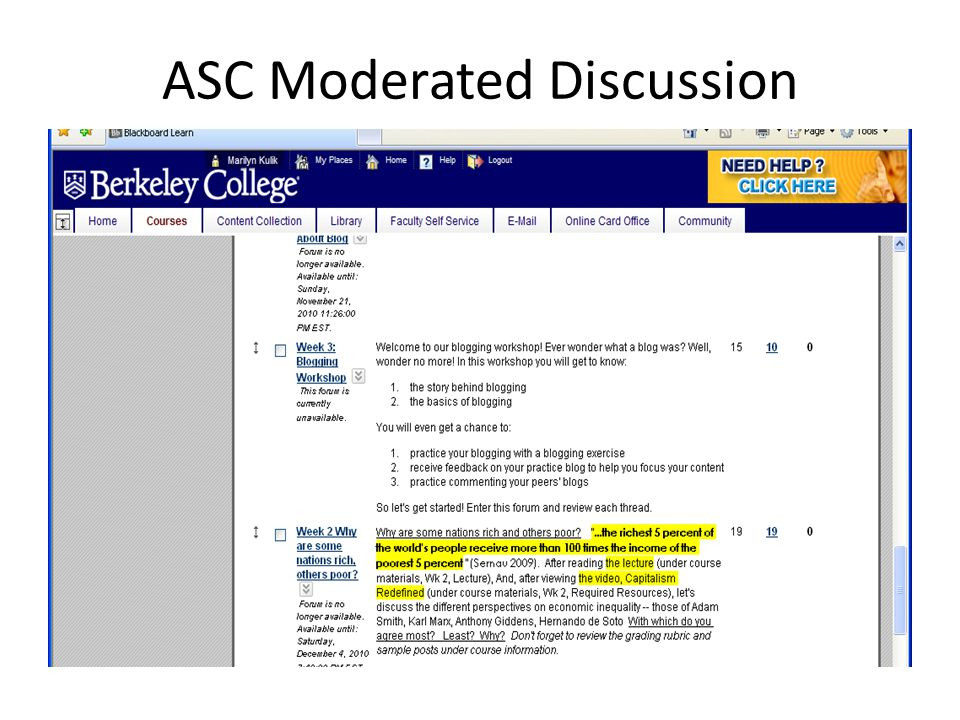 ASC Moderated Discussion