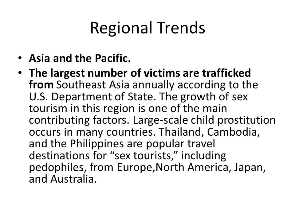 Regional Trends Asia and the Pacific.
