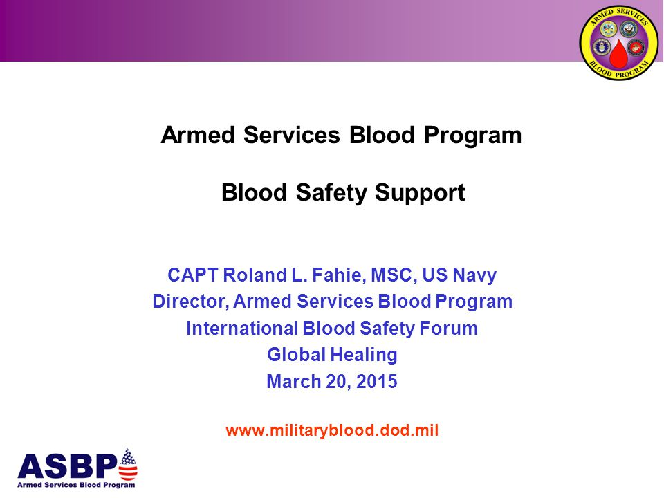 Blood Safety Assistance  Designing Quality Assurance Programs focusing on the goal of accreditation  Divide the country regions in centers of excellence using train the trainer approach  Build capacity in the centers of excellence and extend the services to the provinces  Training at the hospitals and blood centers  Regional workshops UNCLASSIFIED
