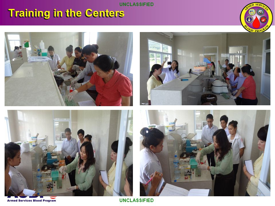 Training in the Centers UNCLASSIFIED