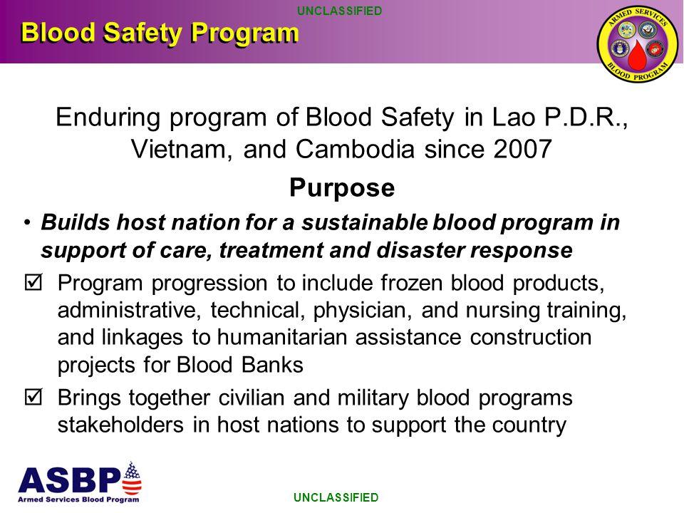 US PACOM Blood Safety Program 2014: Blood safety Workshop in Pakse, Lao P.D.R.