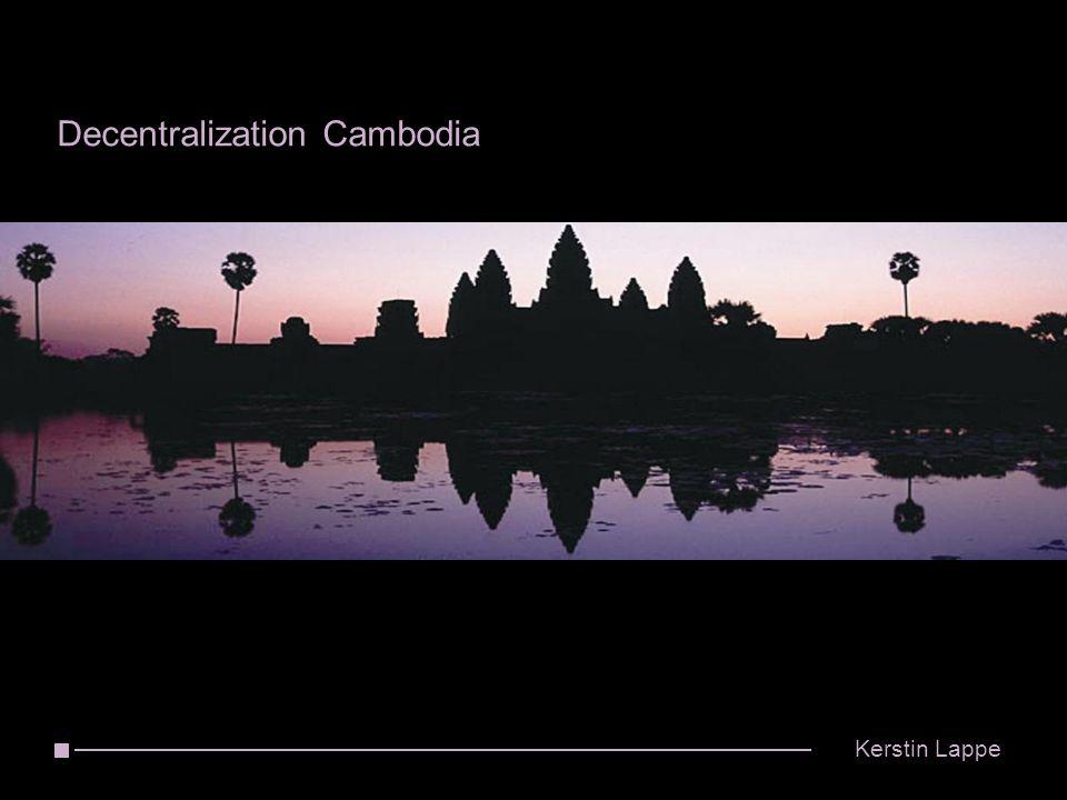 Decentralization Cambodia Kerstin Lappe