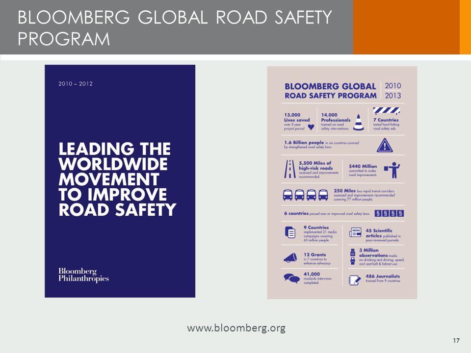 BLOOMBERG GLOBAL ROAD SAFETY PROGRAM 17 www.bloomberg.org