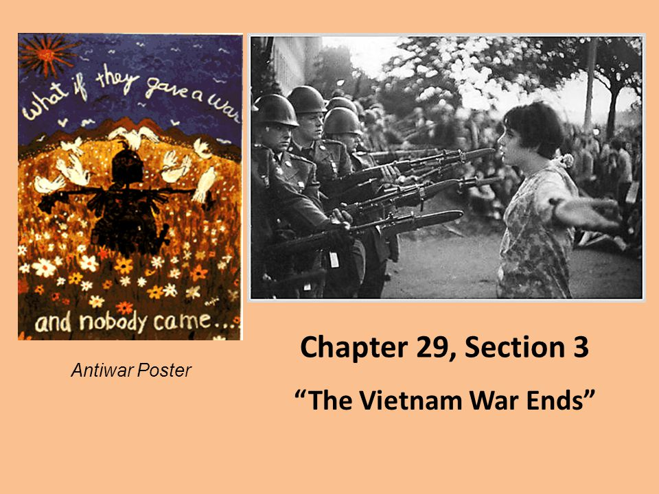 "Chapter 29, Section 3 ""The Vietnam War Ends"" Antiwar Poster"