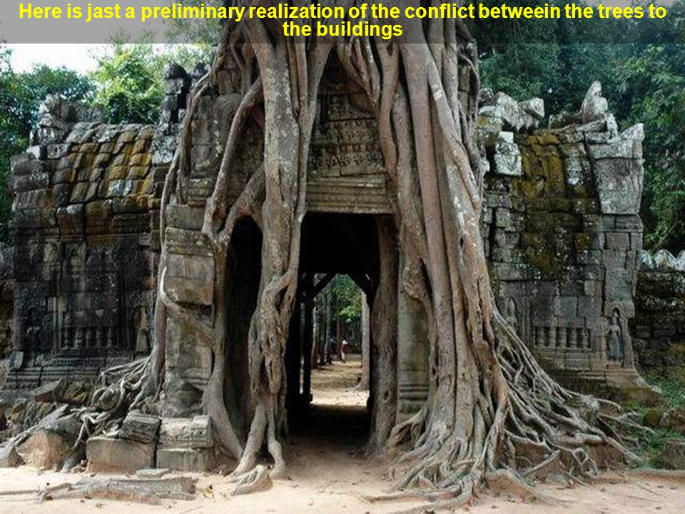 As time passed the Khmer regime has decayed, the city and the temples were neglected and the tropical jungle covered the ruins. Angkor Thom was lost,