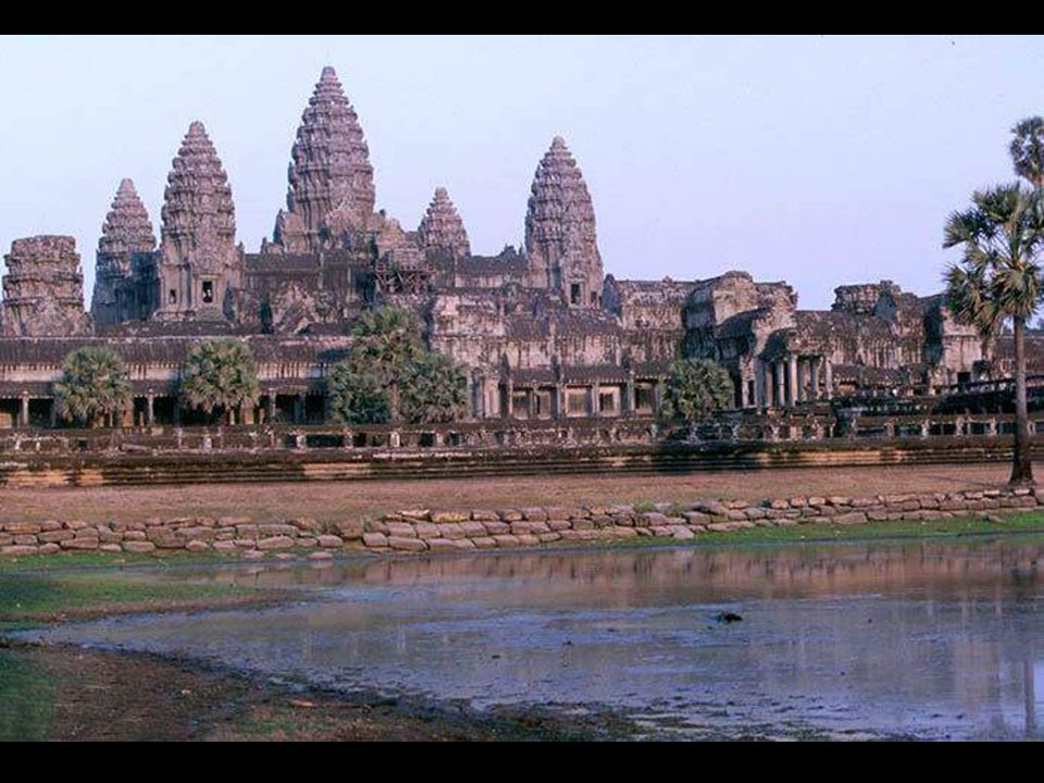 "Finally, the greatest of them all – ""Angkor Vat"". Considered the biggest temple in the world, this complex is spread over 30 hectares and is surrounde"