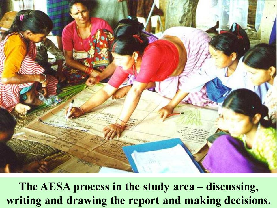 The AESA process in the study area – discussing, writing and drawing the report and making decisions.