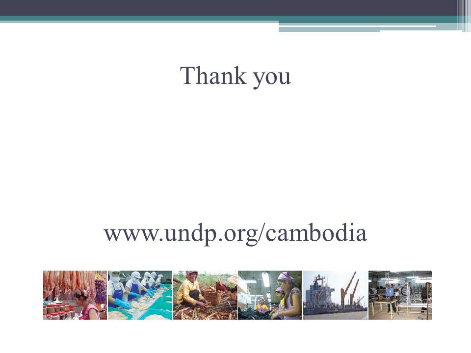 Thank you www.undp.org/cambodia