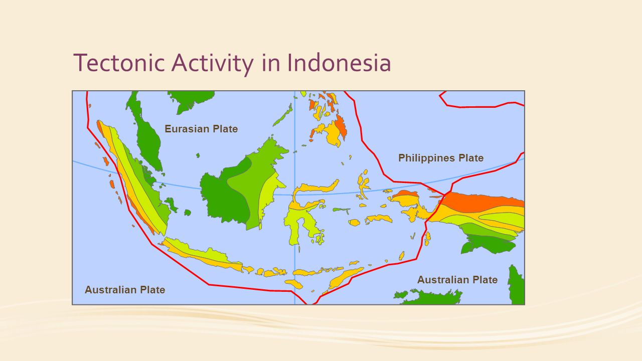 Tectonic Activity in Indonesia Eurasian Plate Australian Plate Philippines Plate Australian Plate